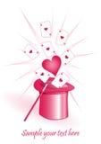 ρόδινος ρομαντικός ανασκ απεικόνιση αποθεμάτων