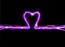 ρόδινος σπινθήρας καρδιών Στοκ Εικόνες