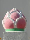 ρόδινο άγαλμα λωτού Στοκ Εικόνα