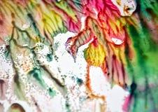 Ρόδινο άσπρο πράσινο φωσφορίζον αργυροειδές θολωμένο υπόβαθρο κρητιδογραφιών watercolor χρωμάτων, χρυσό μπλε υπόβαθρο χρωμάτων Στοκ φωτογραφία με δικαίωμα ελεύθερης χρήσης