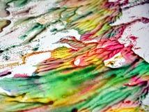 Ρόδινο άσπρο πράσινο φωσφορίζον αργυροειδές θολωμένο υπόβαθρο watercolor χρωμάτων, χρυσό μπλε υπόβαθρο χρωμάτων Στοκ Εικόνες