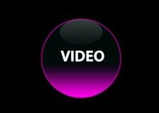 ρόδινο βίντεο νέου κουμπιών Στοκ Εικόνες