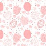 Ρόδινο γλυκό σχέδιο βαμβακιού μωρών στο άσπρο υπόβαθρο στοκ φωτογραφίες