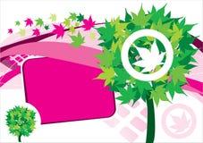 ρόδινο δέντρο εμβλημάτων αν Στοκ εικόνα με δικαίωμα ελεύθερης χρήσης