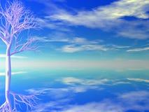 ρόδινο δέντρο Στοκ Εικόνες