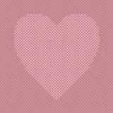 Ρόδινο διαμορφωμένο καρδιά υπόβαθρο από τις καρδιές - διανυσματικό γραφικό σχέδιο σχεδίων στοκ φωτογραφίες με δικαίωμα ελεύθερης χρήσης