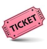 ρόδινο εισιτήριο Στοκ Φωτογραφίες