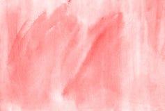 Ρόδινο καθιερώνον τη μόδα συρμένο χέρι καλλιτεχνικό brushstroke Watercolor illustrat Στοκ Εικόνα