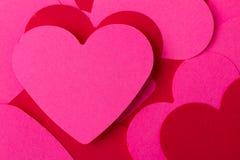 ρόδινο κόκκινο καρδιών Στοκ εικόνες με δικαίωμα ελεύθερης χρήσης