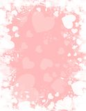ρόδινο λευκό καρδιών ανασ απεικόνιση αποθεμάτων