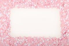 ρόδινο λευκό καρδιών Στοκ φωτογραφία με δικαίωμα ελεύθερης χρήσης