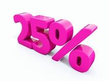 25 ρόδινο σημάδι τοις εκατό Στοκ Εικόνα