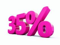 35 ρόδινο σημάδι τοις εκατό διανυσματική απεικόνιση