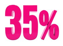 35 ρόδινο σημάδι τοις εκατό ελεύθερη απεικόνιση δικαιώματος