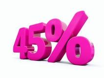 45 ρόδινο σημάδι τοις εκατό Στοκ εικόνες με δικαίωμα ελεύθερης χρήσης