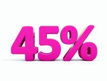 45 ρόδινο σημάδι τοις εκατό Στοκ φωτογραφίες με δικαίωμα ελεύθερης χρήσης