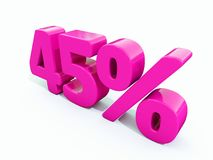 45 ρόδινο σημάδι τοις εκατό Στοκ φωτογραφία με δικαίωμα ελεύθερης χρήσης