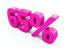 65 ρόδινο σημάδι τοις εκατό Στοκ φωτογραφία με δικαίωμα ελεύθερης χρήσης
