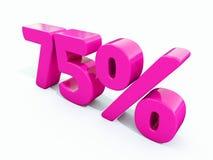 75 ρόδινο σημάδι τοις εκατό ελεύθερη απεικόνιση δικαιώματος