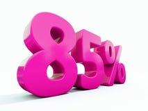 85 ρόδινο σημάδι τοις εκατό Ελεύθερη απεικόνιση δικαιώματος