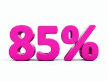 85 ρόδινο σημάδι τοις εκατό Διανυσματική απεικόνιση