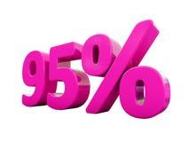 95 ρόδινο σημάδι τοις εκατό ελεύθερη απεικόνιση δικαιώματος