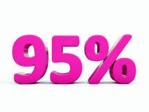95 ρόδινο σημάδι τοις εκατό διανυσματική απεικόνιση