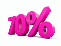 70 ρόδινο σημάδι τοις εκατό Στοκ Εικόνες