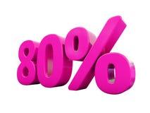 80 ρόδινο σημάδι τοις εκατό ελεύθερη απεικόνιση δικαιώματος