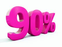 90 ρόδινο σημάδι τοις εκατό διανυσματική απεικόνιση