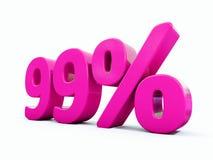 99 ρόδινο σημάδι τοις εκατό Στοκ Φωτογραφίες