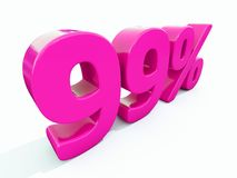 99 ρόδινο σημάδι τοις εκατό Στοκ Εικόνα