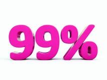 99 ρόδινο σημάδι τοις εκατό Στοκ Φωτογραφία