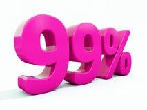 99 ρόδινο σημάδι τοις εκατό ελεύθερη απεικόνιση δικαιώματος