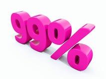 99 ρόδινο σημάδι τοις εκατό Στοκ Εικόνες