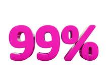 99 ρόδινο σημάδι τοις εκατό απεικόνιση αποθεμάτων