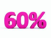 60 ρόδινο σημάδι τοις εκατό ελεύθερη απεικόνιση δικαιώματος