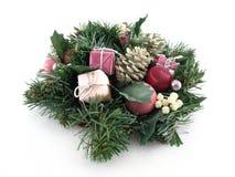 ρόδινο στεφάνι Χριστουγέν& Στοκ Φωτογραφίες