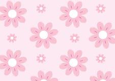 Ρόδινο σχέδιο προτύπων λουλουδιών Στοκ Εικόνες