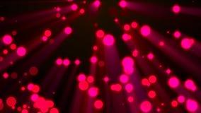 Ρόδινο υπόβαθρο μορίων απόθεμα βίντεο