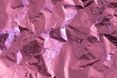 Ρόδινο υπόβαθρο σύστασης φύλλων αλουμινίου στοκ εικόνα με δικαίωμα ελεύθερης χρήσης