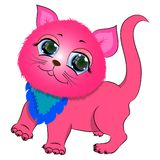 Ρόδινο χαριτωμένο γατάκι Στοκ εικόνες με δικαίωμα ελεύθερης χρήσης