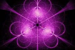 Ρόδινο fractal κύκλων πυράκτωσης hypertile ελεύθερη απεικόνιση δικαιώματος