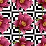Ρόδινο peony λουλούδι σε ένα διανυσματικό ύφος Στοκ φωτογραφία με δικαίωμα ελεύθερης χρήσης