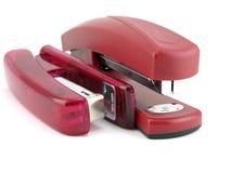 ρόδινο stapler δύο Στοκ Φωτογραφίες