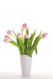 ρόδινο vase τουλιπών Στοκ φωτογραφία με δικαίωμα ελεύθερης χρήσης