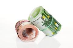 ρόλοι χρημάτων Στοκ εικόνα με δικαίωμα ελεύθερης χρήσης
