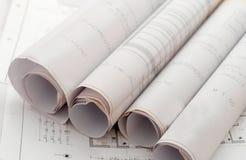 ρόλος σχεδίων σχεδίων Στοκ Εικόνες