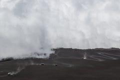 δρόμος βουνών σύννεφων Στοκ Φωτογραφία