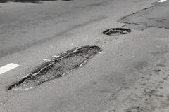 δρόμος ζημίας Στοκ φωτογραφία με δικαίωμα ελεύθερης χρήσης